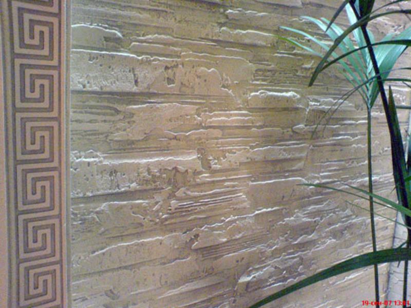Декоративна штукатурка стен своими руками