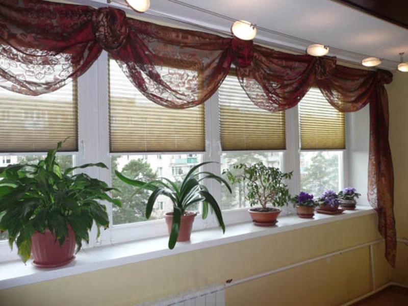 Тюль на балкон фото своими руками