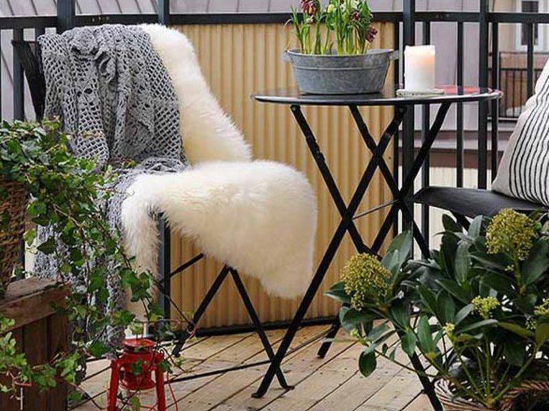 Эко интерьеры. благоустройство балкона - шведский вариант - .