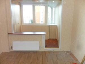 фото балкон совмещенный с залом