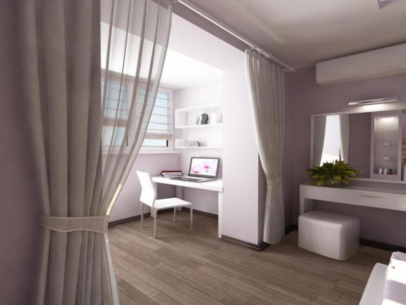 Балкон, совмещенный с комнатой: фото и особенности дизайн....