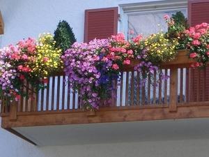 Купить ящики для цветов на балкон с держателем