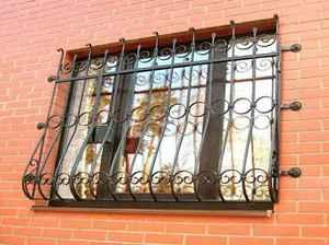 Вид решетки на окна