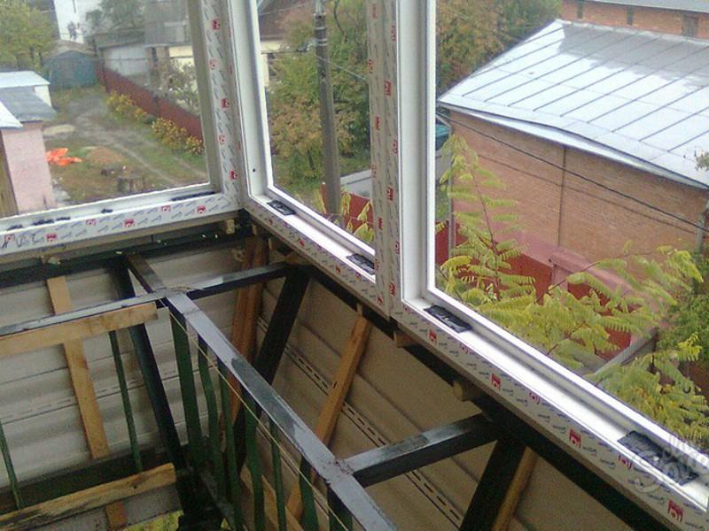 Как сделать балкон с выносом своими руками чертеж схема проекта