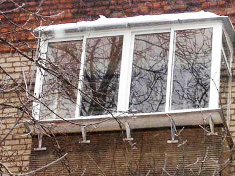 Балконные рамы с выносом фото. - балконные двери как выбрать.