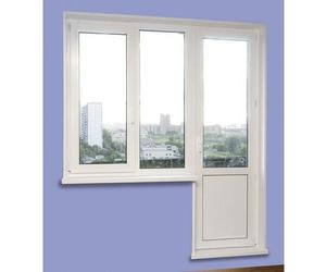фото окна с дверью на балкон