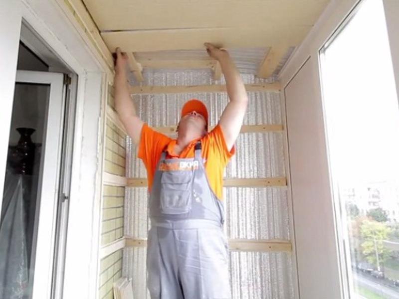 Утепление балкона своими руками: видео процесса и подгото....