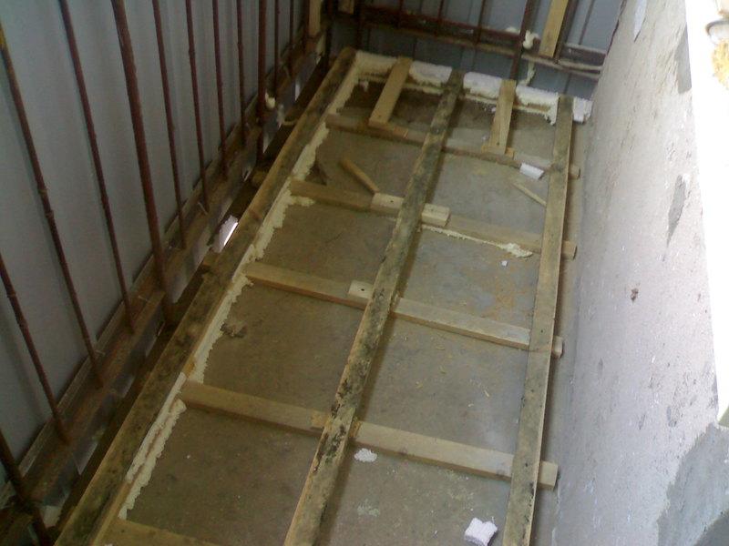 Монтаж пола на балконе видео