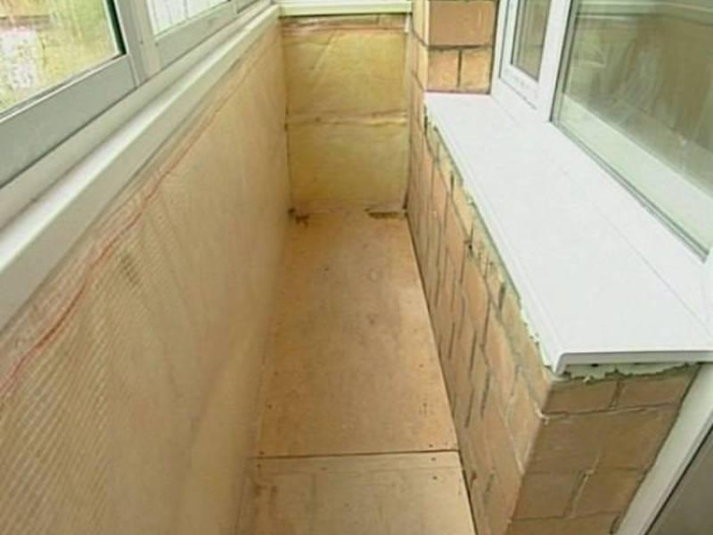 Утепление балкона минеральная вата..