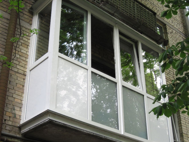 Балконы снаружи - наши работы.