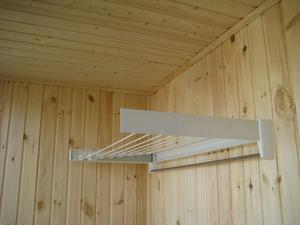 Как поставить сушилку на балконе