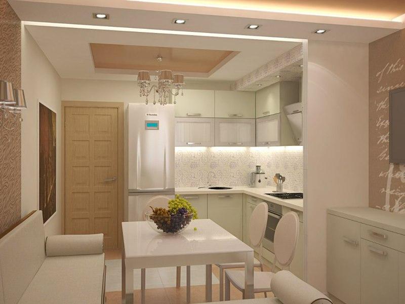 Дизайн кухни с балконом 15 кв м новинки 2017-2018 с