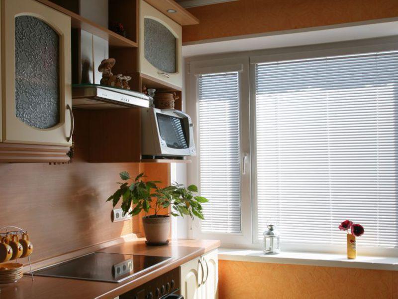 Пластиковые окна дизайн на кухню