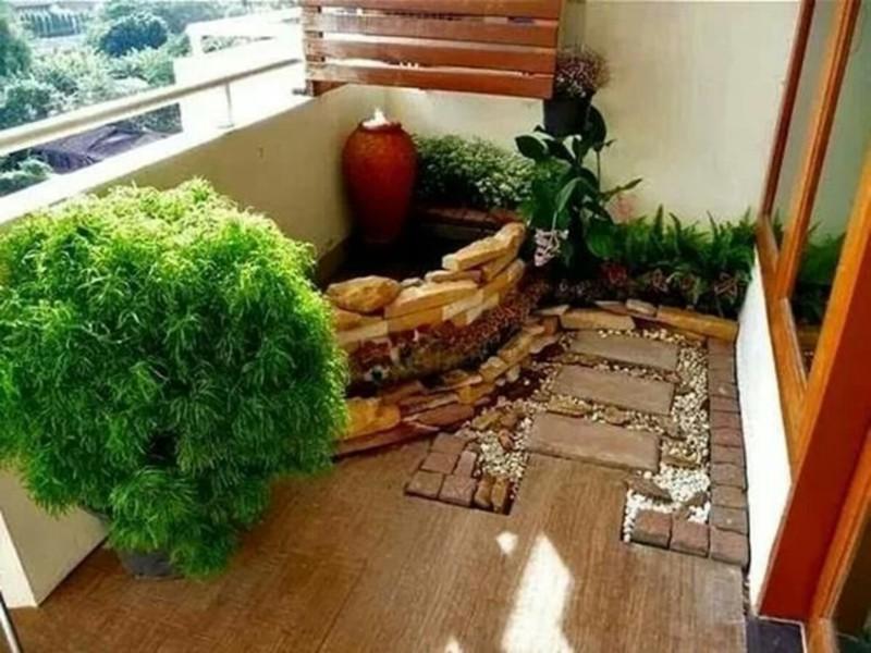 Ландшафтный дизайн балкона