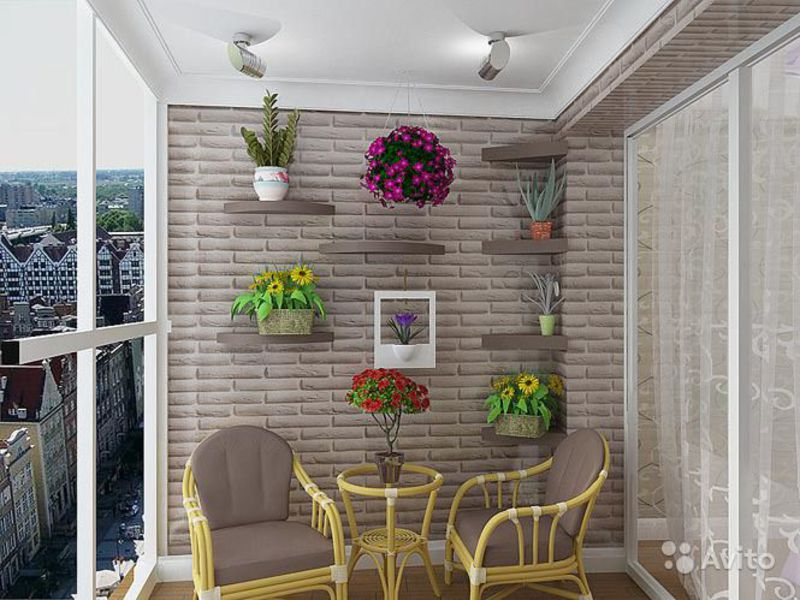 Стены на балконе.
