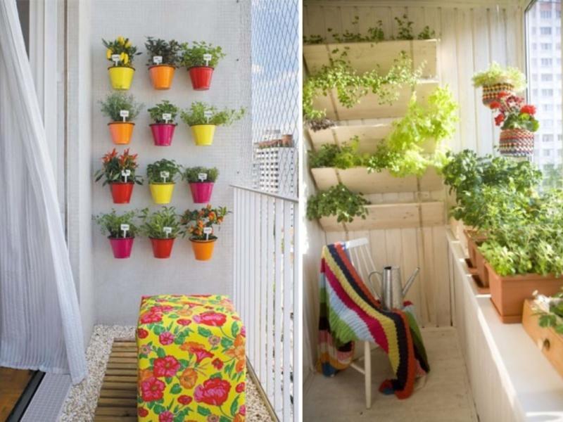 Как украсить маленький балкон своими руками фото.