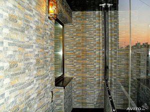 Камень для отделки балкона