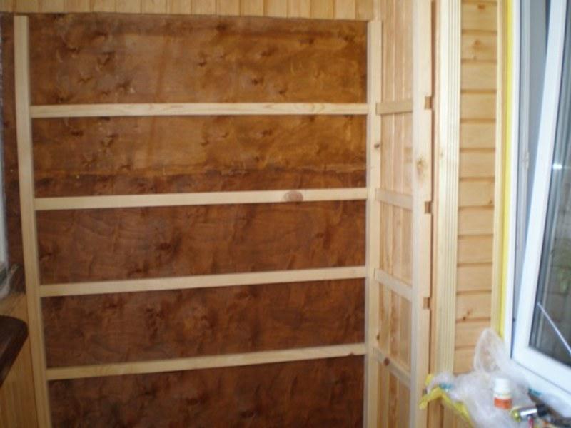Шкафы из вагонки на балконе видео..