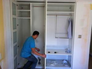 Как сделать встроенный шкаф купе своими руками из гипсокартона видео